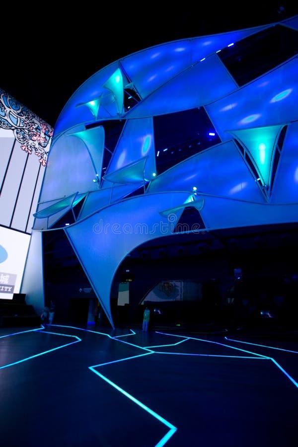 framtida paviljong 2010 för expo shanghai royaltyfri fotografi
