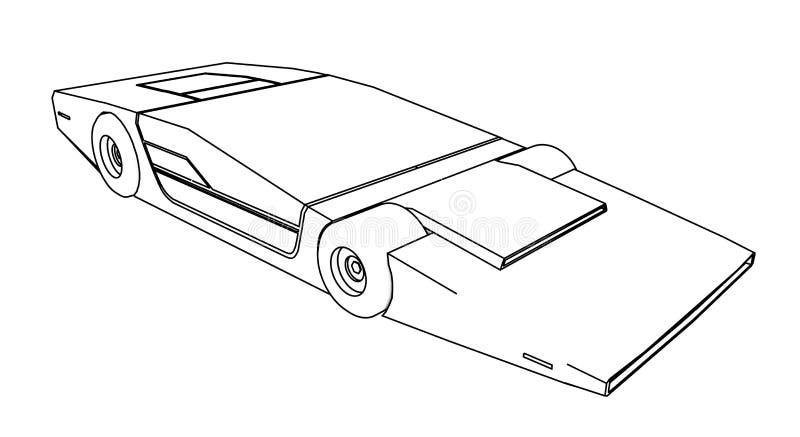 Framtida prototypbil royaltyfri illustrationer