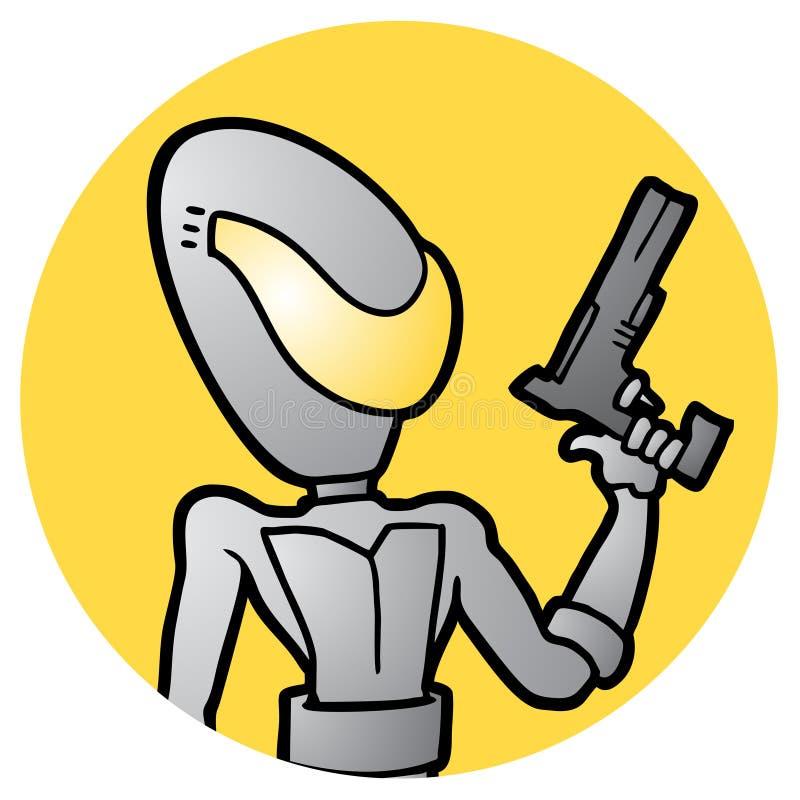 framtida soldat vektor illustrationer