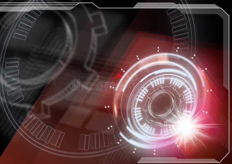 framtida teknologi stock illustrationer