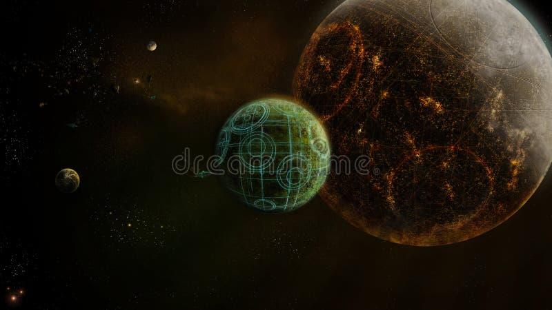 framtida universum vektor illustrationer