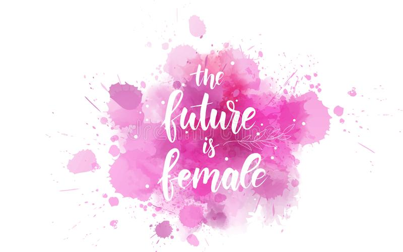 Framtiden är kvinnlig stock illustrationer