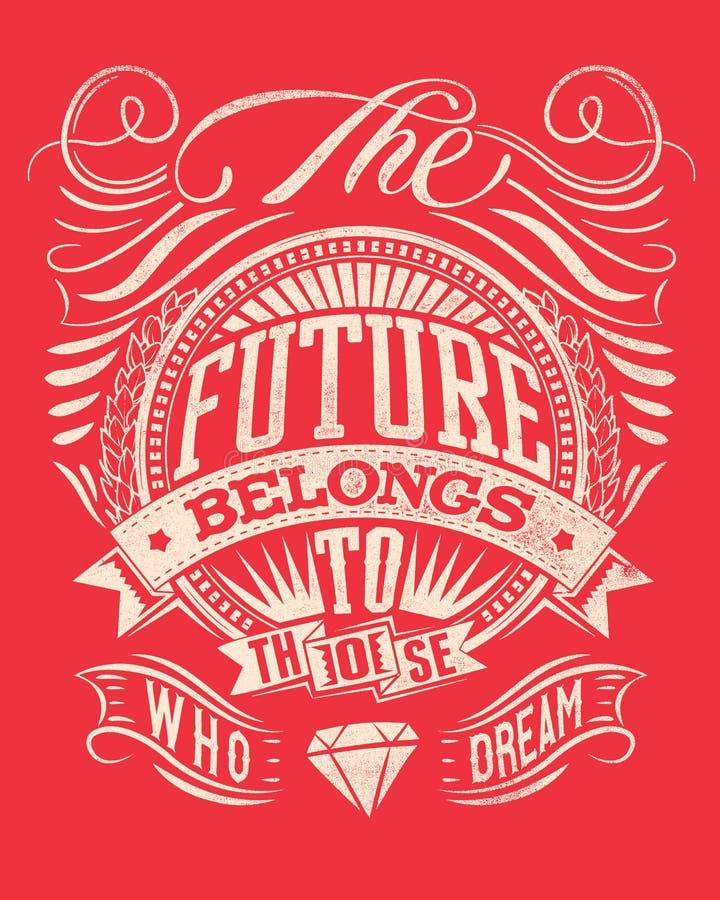 Framtiden stock illustrationer