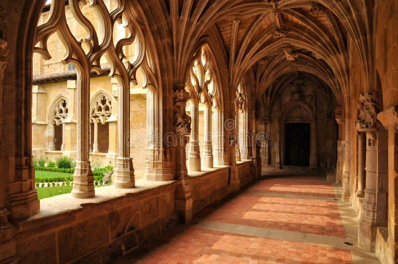 França, abadia de Cadouin em Perigord foto de stock royalty free