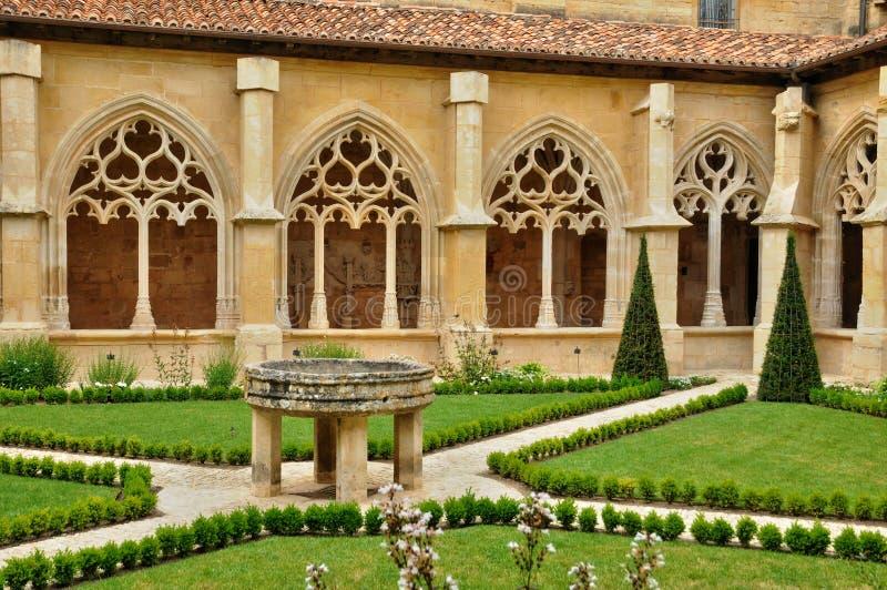 França, abadia de Cadouin em Perigord imagens de stock