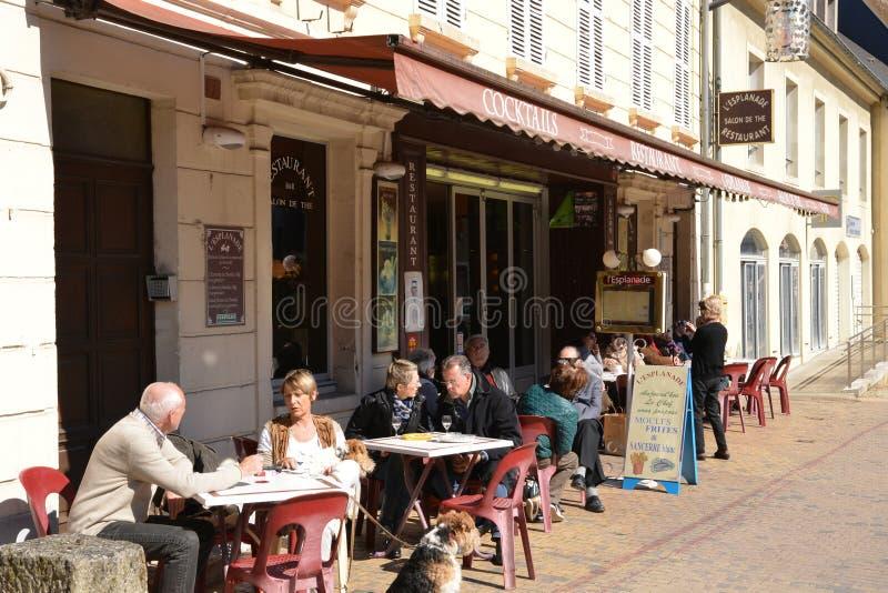 França, cidade pitoresca de Sancerre em Cher foto de stock