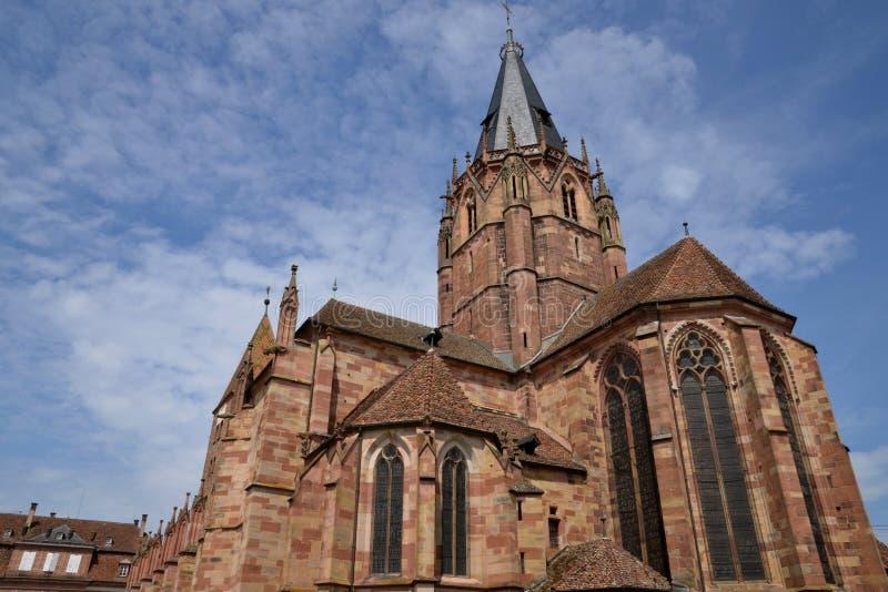 França, a cidade pitoresca de Wissembourg em Bas Rhin imagens de stock royalty free