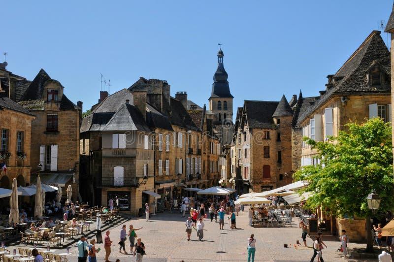 França, cidade pitoresca do la Caneda de Sarlat em Dordogne fotografia de stock