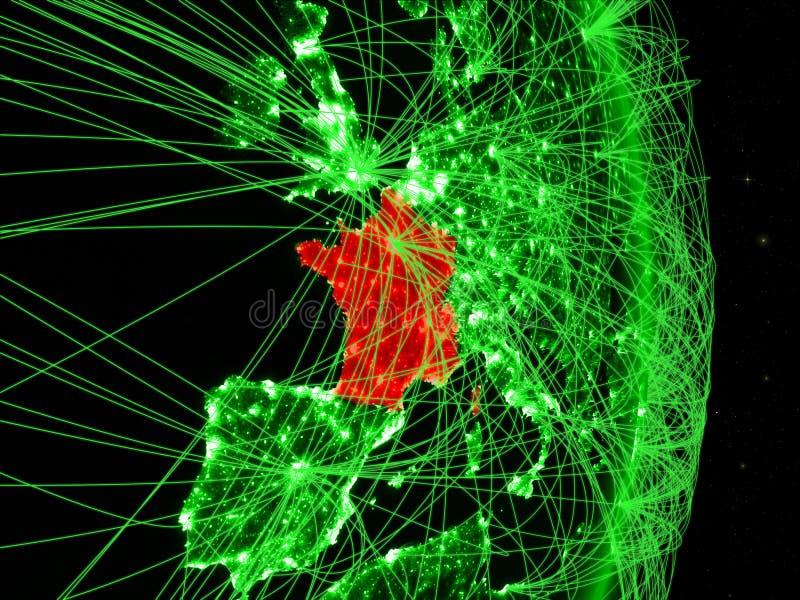 França na terra verde imagem de stock royalty free