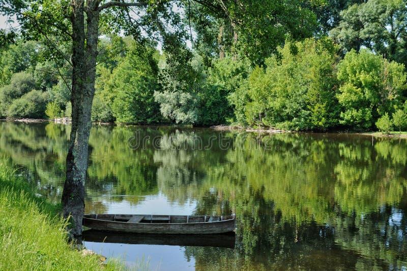 França, vila pitoresca de Carennac no lote foto de stock royalty free