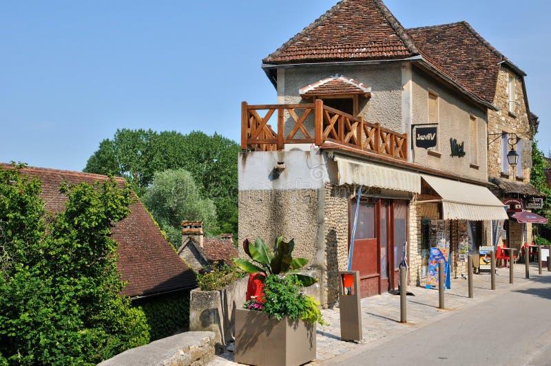 França, vila pitoresca de Carennac no lote fotos de stock royalty free