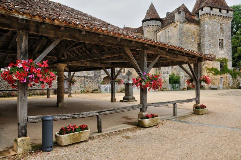 França, vila pitoresca de Saint Jean de Cole fotos de stock