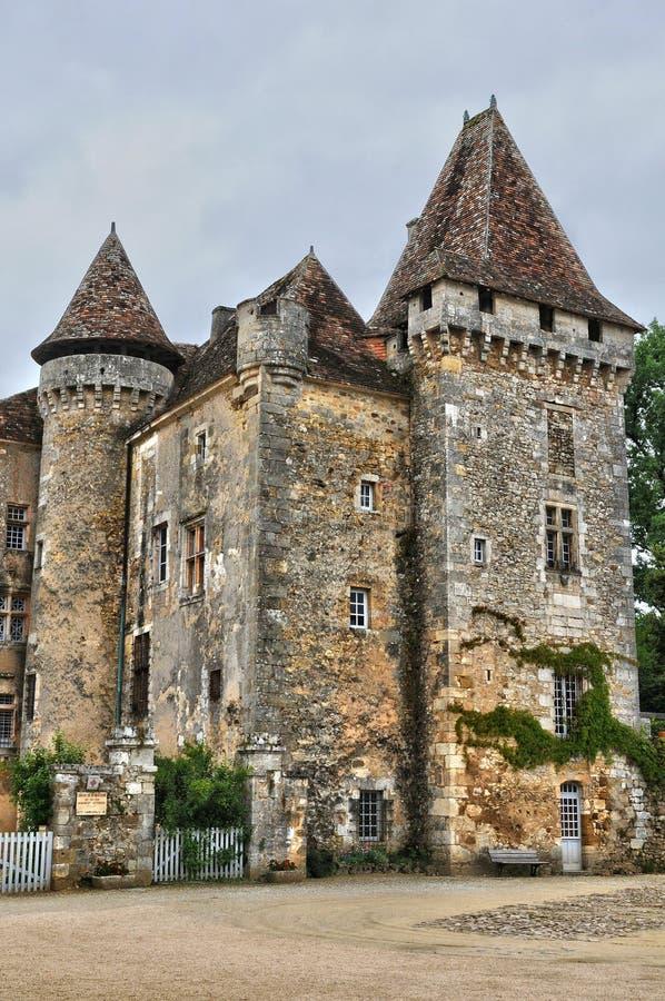 França, vila pitoresca de Saint Jean de Cole fotografia de stock