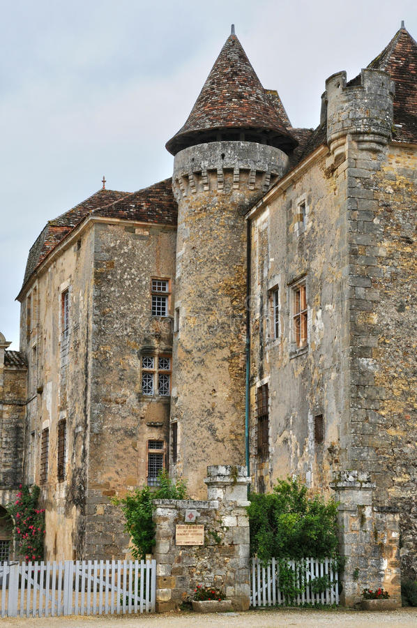 França, vila pitoresca de Saint Jean de Cole fotos de stock royalty free