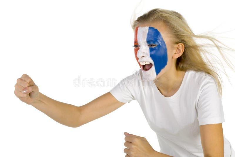 Français de ventilateur photo libre de droits