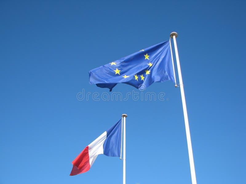 Français européen de drapeaux image stock