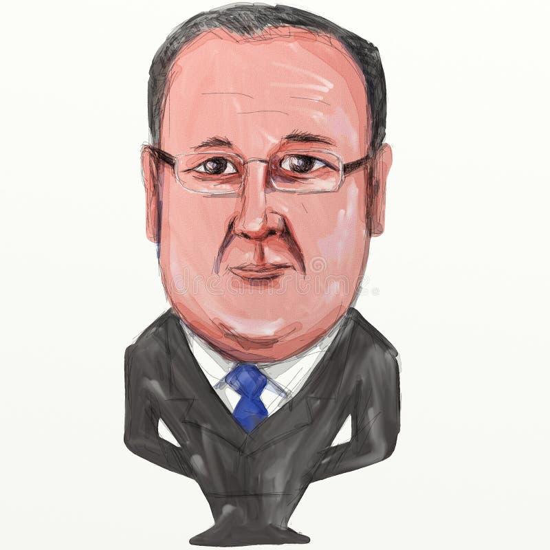 Franï ¿ ½ ois Hollande prezydent Francja kreskówka