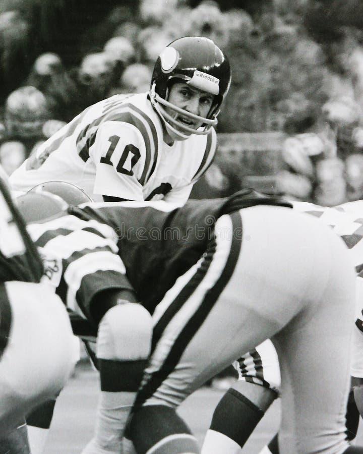 Fran Tarkenton Minnesota Vikings foto de stock royalty free