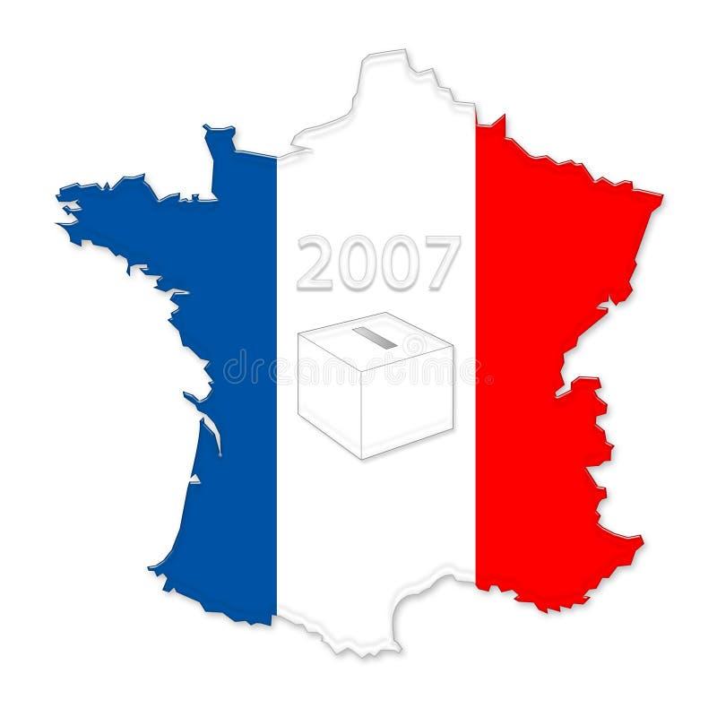Francés 2007 elecciones stock de ilustración