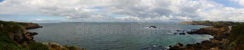 Francés Coast_Panoramic fotografía de archivo