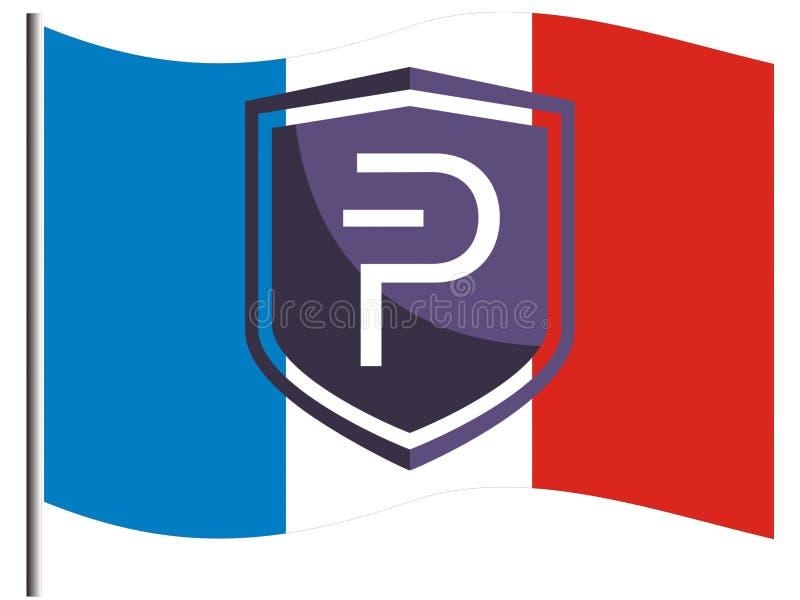 Francés Pivians que apoya Pivx ilustración del vector