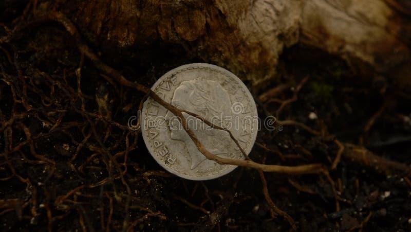 Franc Coin perdu photo libre de droits