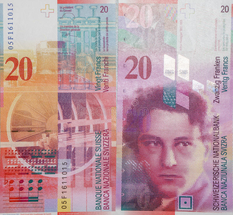 Franc suisse photographie stock