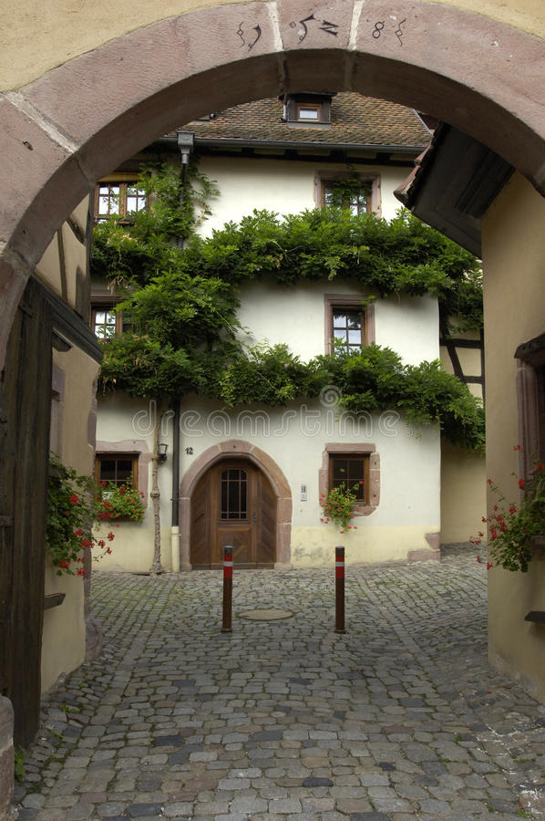 France, Alsace, Riquewihr stock photos