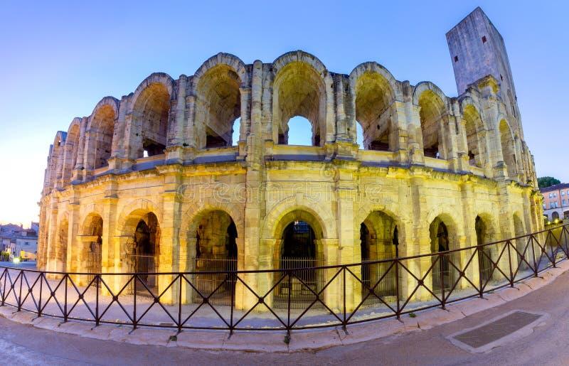 france Arles Vieille arène romaine antique d'amphithéâtre photographie stock libre de droits