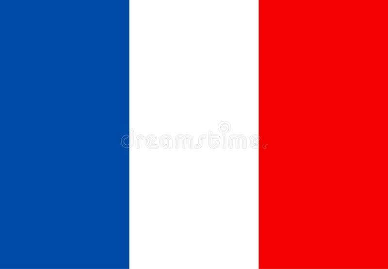 France bandery Wektorowa ilustracja, eps 10 ilustracji