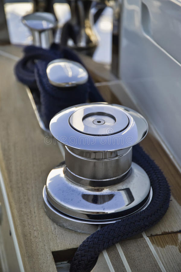 Download France, Cannes, Continental 80 Luxury Yacht, Winch Stock Image - Image: 15328771