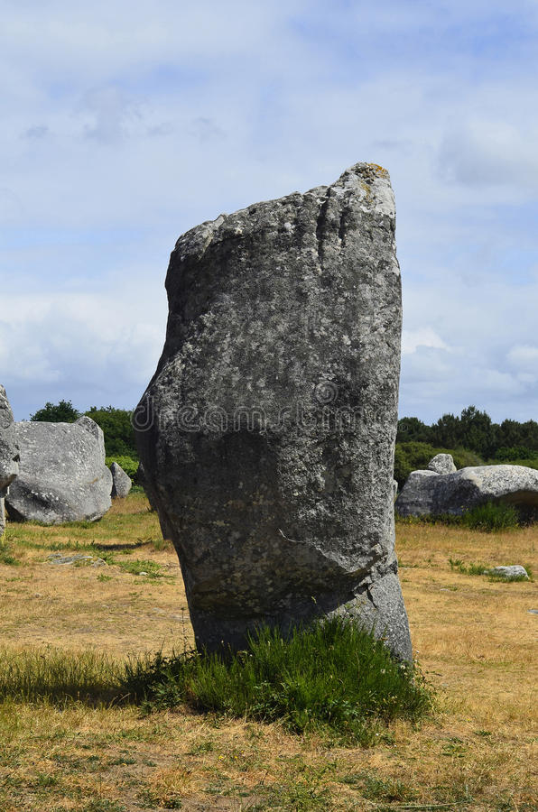 France, Carnac. France, megalith stones in Unesco World Heritage site of Carnac royalty free stock photography