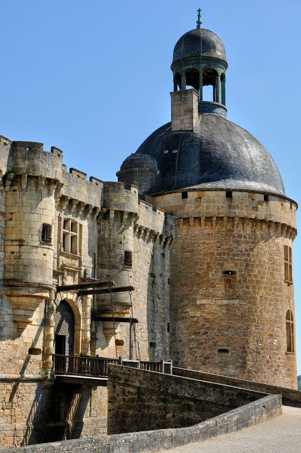 France, castle of Hautefort in Dordogne royalty free stock photos