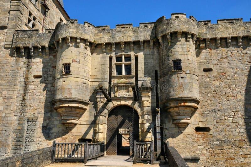 France, castle of Hautefort in Dordogne stock image