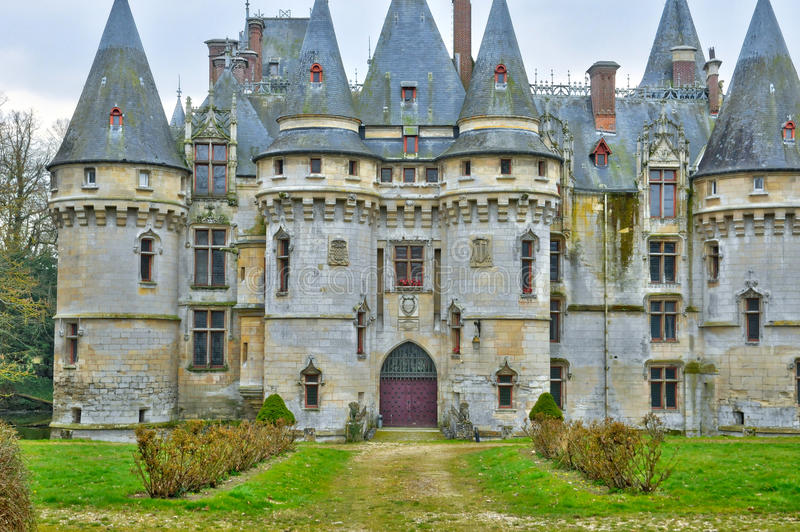 france the castle of vigny in val d oise stock image image of exterior tower 31363709. Black Bedroom Furniture Sets. Home Design Ideas