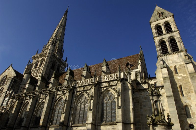France, catedral de Autun fotografia de stock