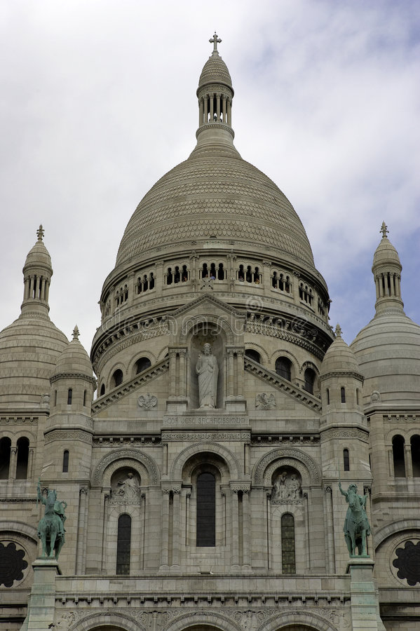 France Coeur Montmartre Sacre Paryża Obrazy Royalty Free