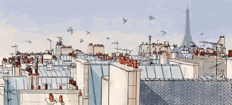 france dachy Paris ilustracji