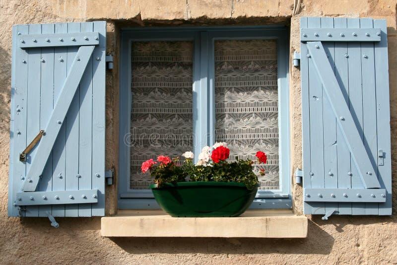 france fönster royaltyfria bilder