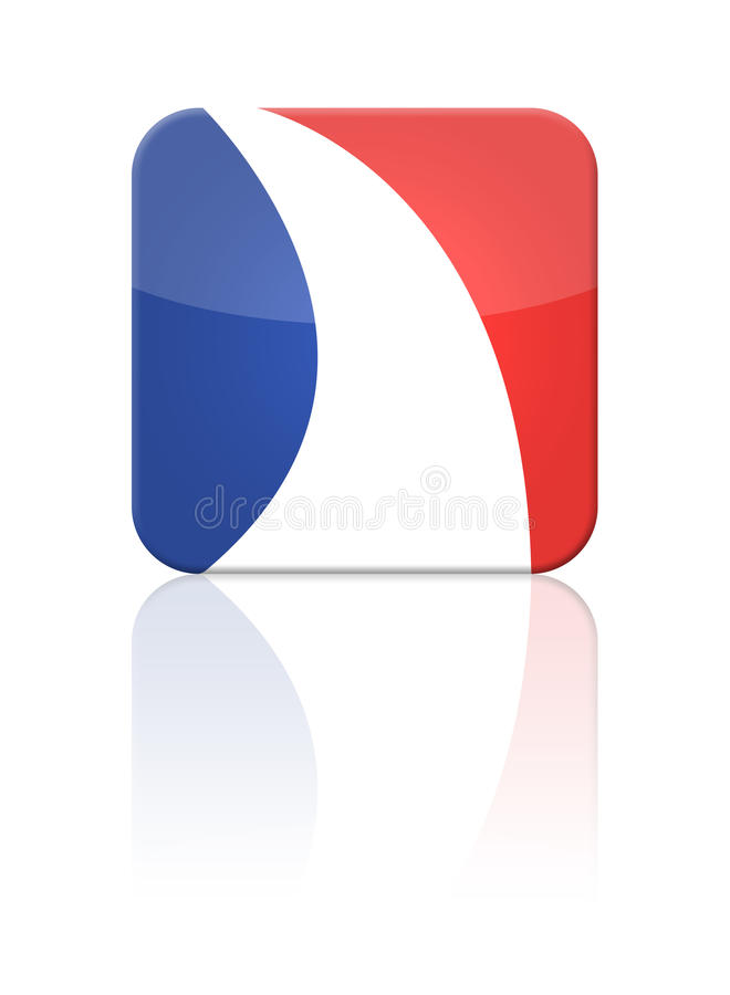 Download France flag button stock illustration. Image of eiffel - 9385711