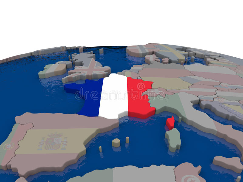 Download France with flag stock illustration. Image of republic - 83717918