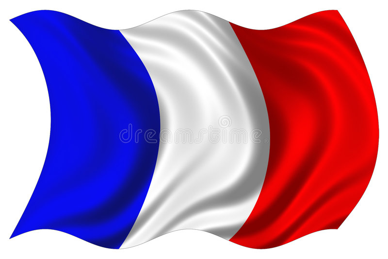 France flag isolated stock image