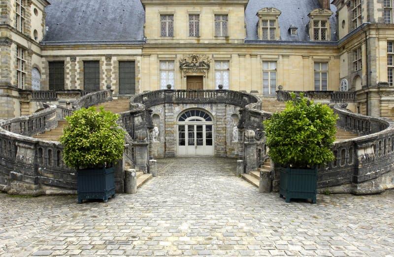 France fontainebleau pałacu. zdjęcia royalty free