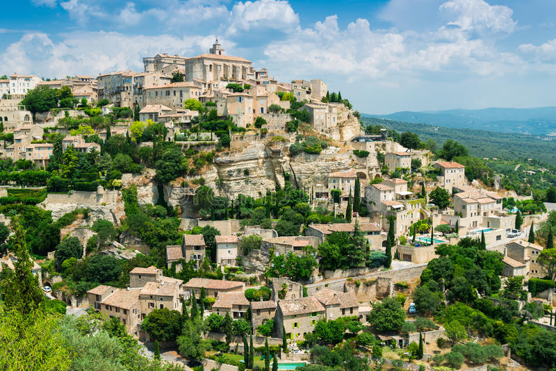 france gordes royaltyfria foton
