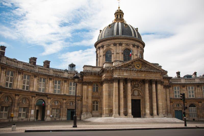 France institute - academy of literature in Paris stock image