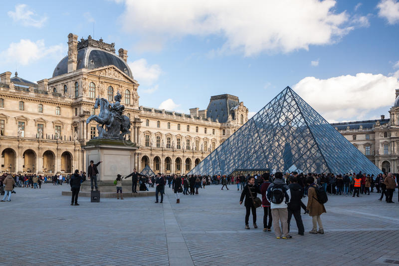 2007 france june louvre museum paris στοκ φωτογραφίες με δικαίωμα ελεύθερης χρήσης