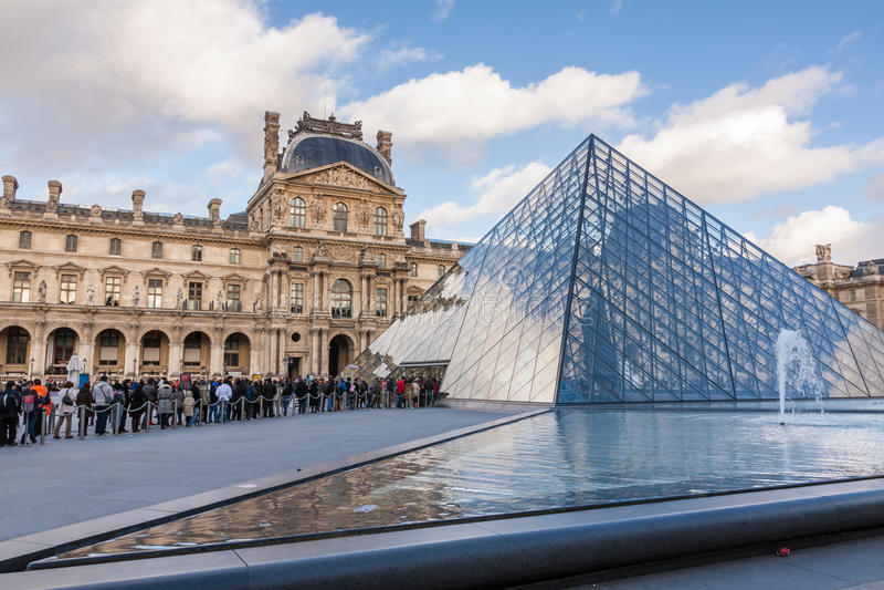 2007 france june louvre museum paris στοκ φωτογραφίες