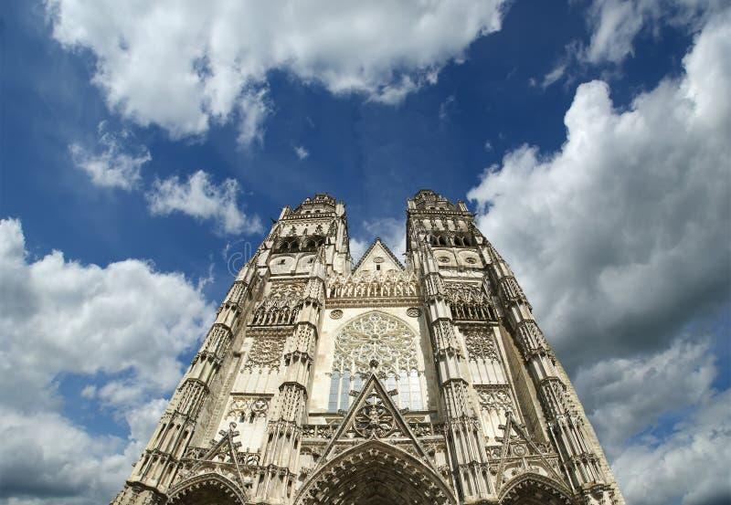 france katedralne wycieczki turysyczne katedralne świątobliwe Gatien obrazy stock