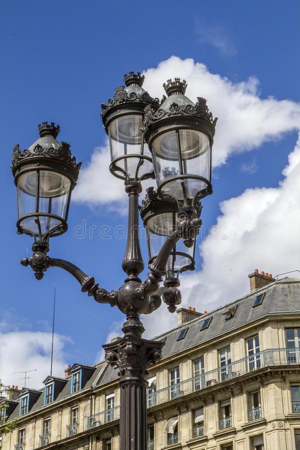 france lamppost retro paris royaltyfri bild