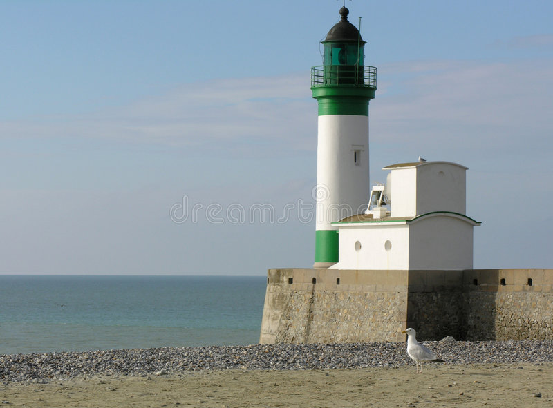 france le lighhouse treport arkivbild